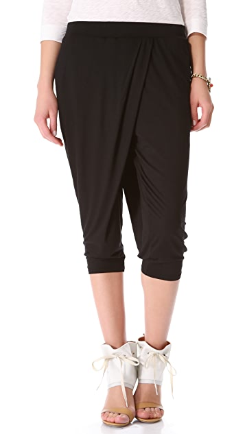 Three Dots Harem Pants with Pockets