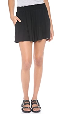 Three Dots Shorts with Elastic Shirring