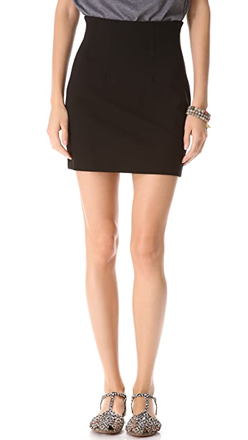 Three Dots Ponte Skirt