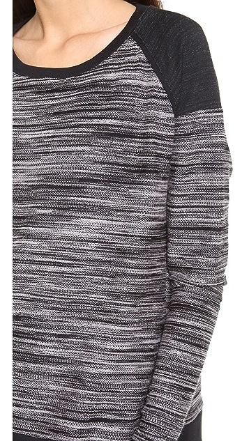 Three Dots Contrast Boxy Sweater
