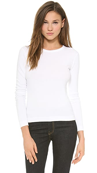 Three Dots Long Sleeve Crew Tee