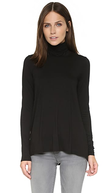 Three Dots Relaxed Hi Lo Turtleneck