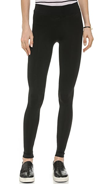 Three Dots Seamless Jersey Leggings - Black