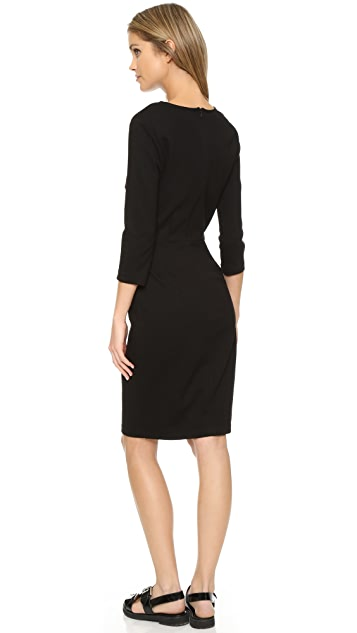 Three Dots Sheath Dress with 3/4 Sleeves