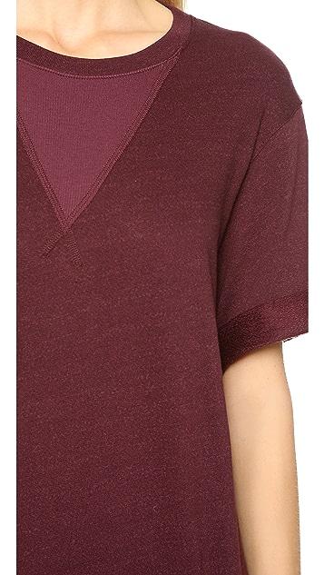 Three Dots Rolled Cuff Sweatshirt
