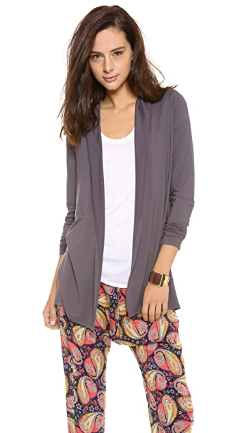 Three Dots Open Hooded Cardigan