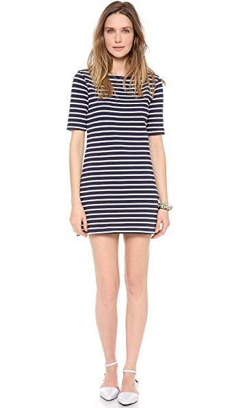 Three Dots French Terry Stripe Dress