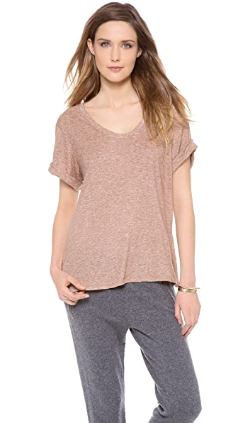 Three Dots Soft V Neck Easy Tee