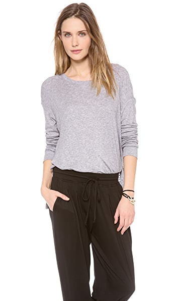 Three Dots Drop Shoulder Scoop Tee
