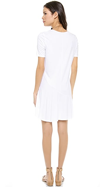 Three Dots Short Sleeve Scoop Neck Dress