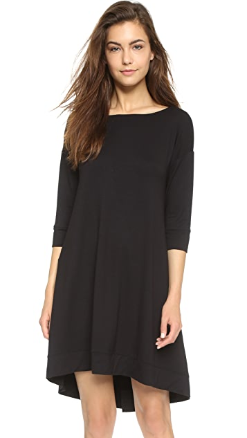 Three Dots 3/4 Sleeve Fish Tail Dress