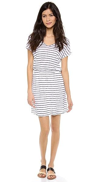 Three Dots Short Sleeve U Neck Dress