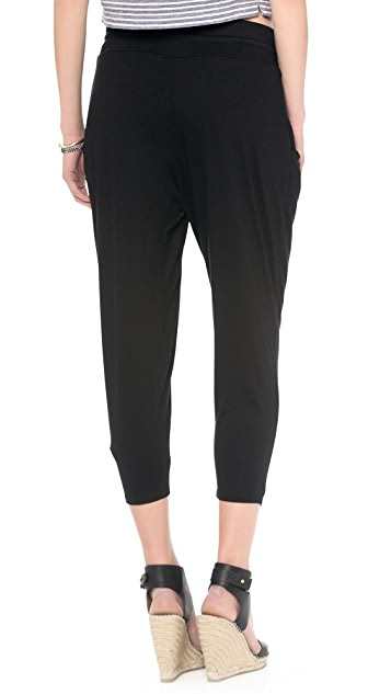 Three Dots Pleated Capri Pants
