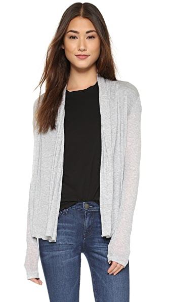 Three Dots Long Sleeve Open Cardigan