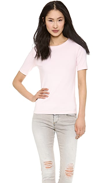 Three Dots Combed Cotton Tee
