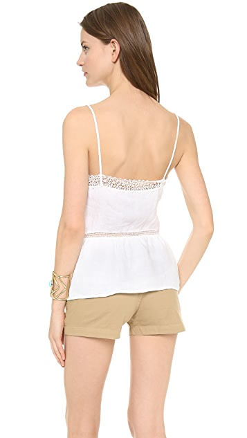 Three Dots Cami Tank with Lace Trim