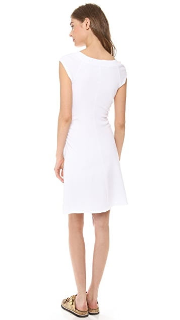 Three Dots Ballet Neck Dress