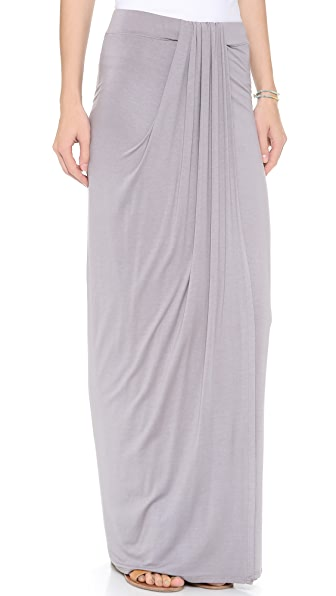 Three Dots Draped Maxi Skirt