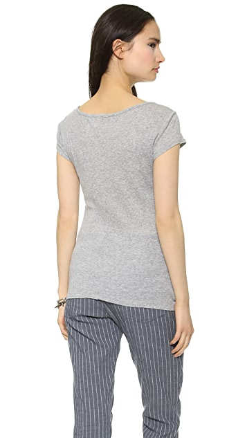 Three Dots 2x1 Rib Tee