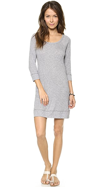 Three Dots Slub Scoop Back Dress