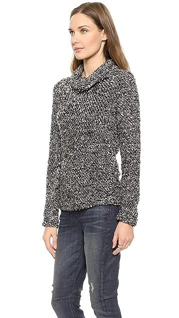 Three Dots Wide Turtleneck Nubby Sweater