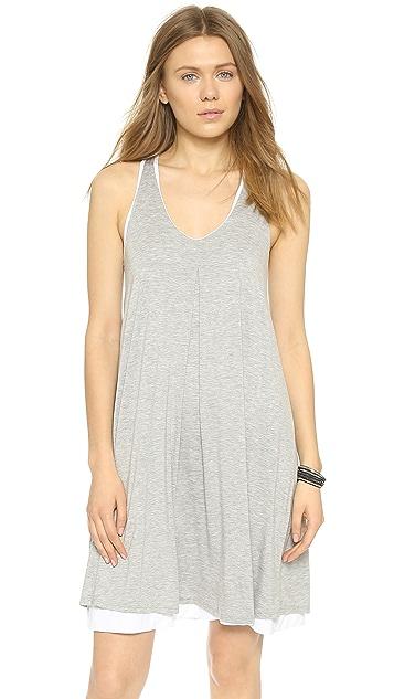Three Dots Reversible Trapeze Dress