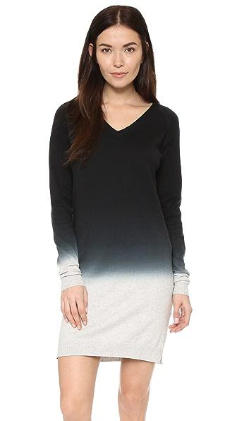 Three Dots Darcel Sweater Dress - Granite/Black
