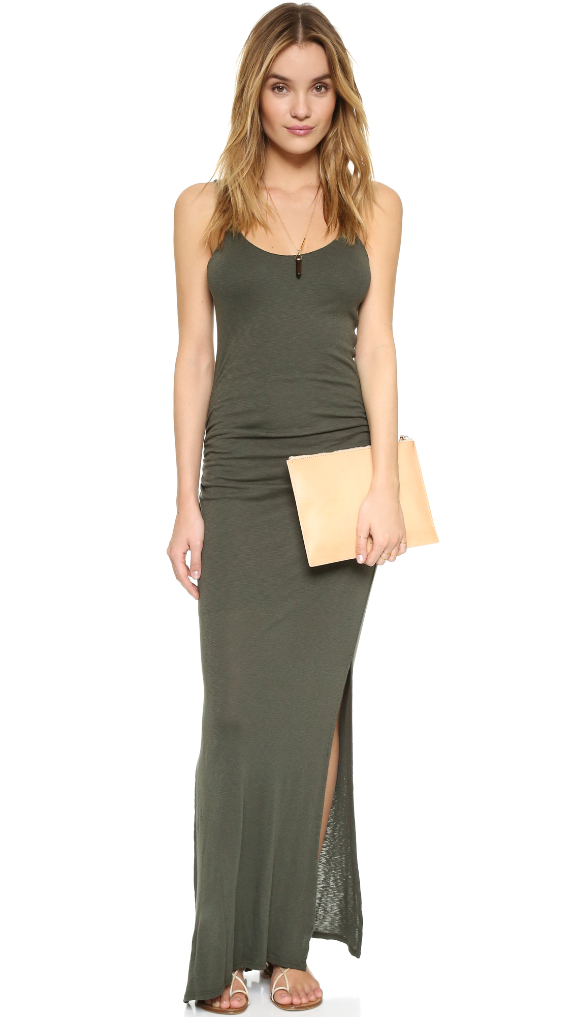 Three Dots Rosina Shirred Maxi Dress | SHOPBOP Extra 25% Off Sale ...
