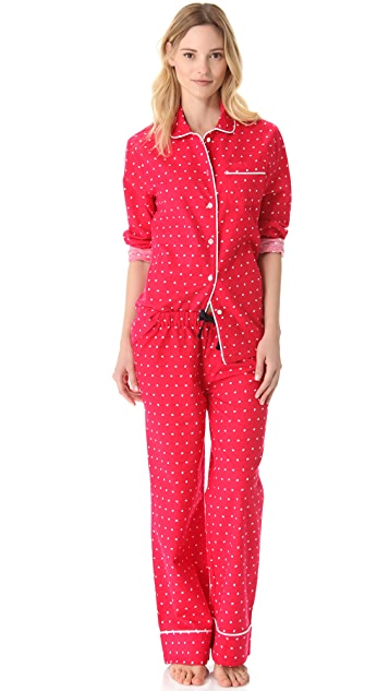 Three J NYC Jamie Heart Pajama Set