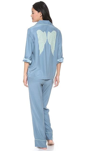 Three J NYC Coco Silk Pajama Set