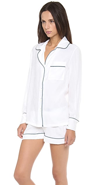 Three J NYC Jane Silk Pajama Set