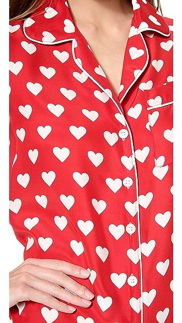 Three J NYC Jane Heart PJs