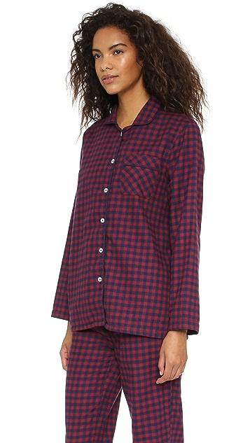 Three J NYC Jamie Flannel Pajama Set