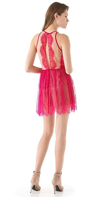 Three Floor Lace Up Dress