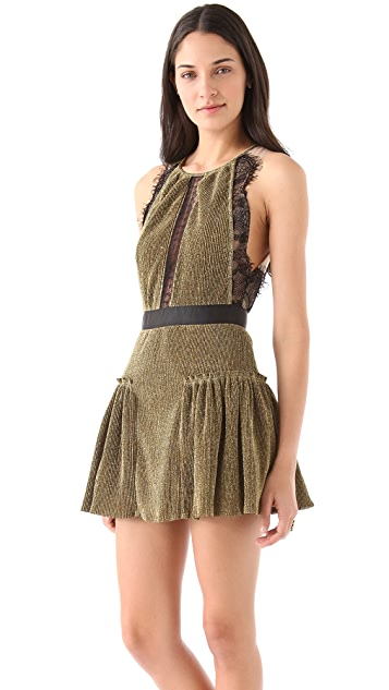 Three Floor Gold Dust Dress