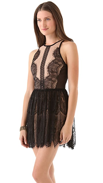 Three Floor Lace Up Dress