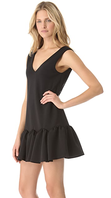 Three Floor Flare Neoprene Dress