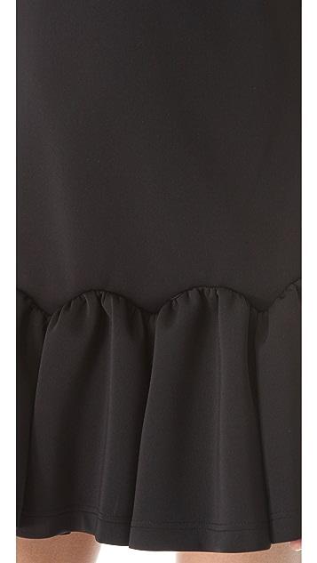 Three Floor Flare Neoprene Dress
