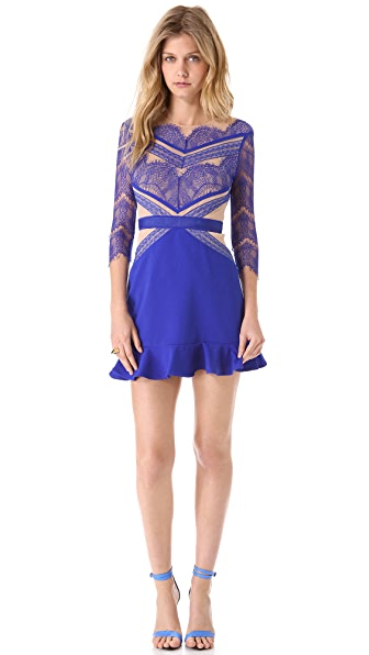 Three floor shades of blue dress shopbop for Three floor yellow dress