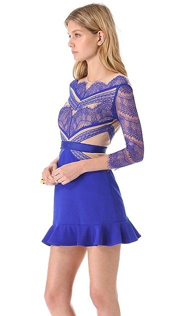 Three Floor Shades of Blue Dress