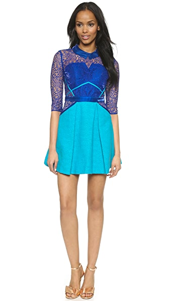 Three Floor Lace In Vision Dress