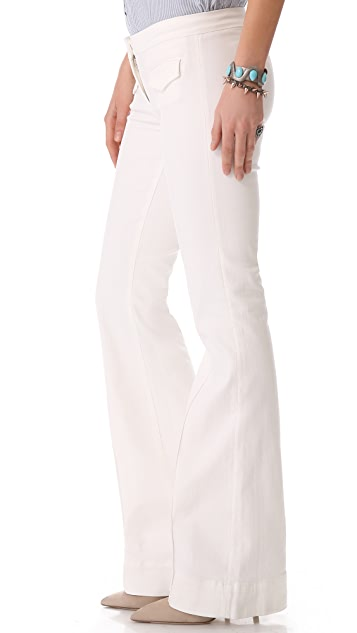 3x1 Pintuck Flare Trousers