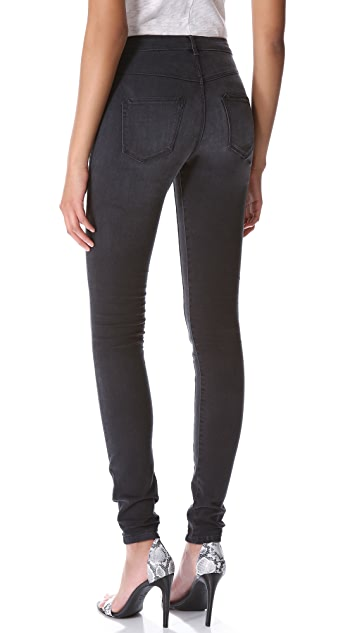 3x1 High Rise Skinny Jeans with Channel Seam