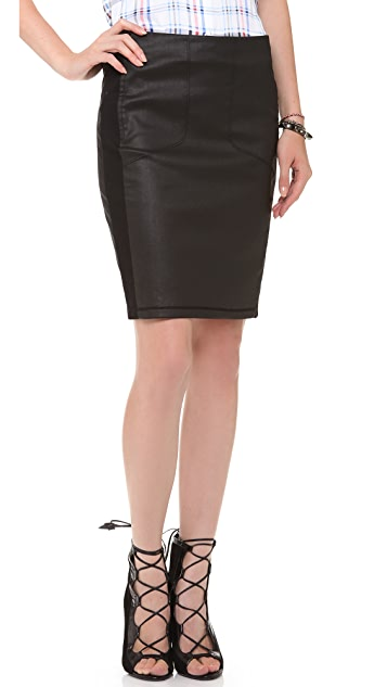 3x1 W2 Coated Pencil Skirt