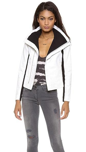 3x1 Coated Zip Jacket