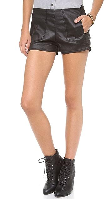 3x1 Moto Coated Mini Shorts