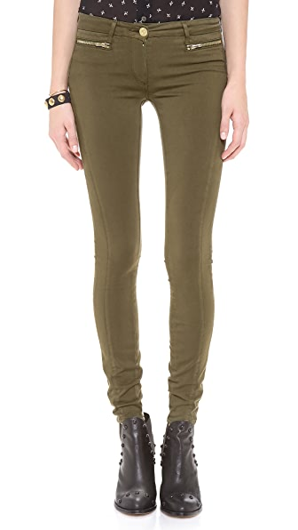 3x1 Sateen Wrap Zip Skinny Pants