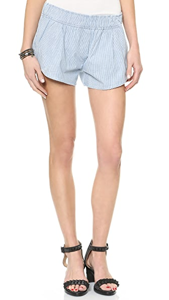 3x1 Railroad Stripe Track Shorts