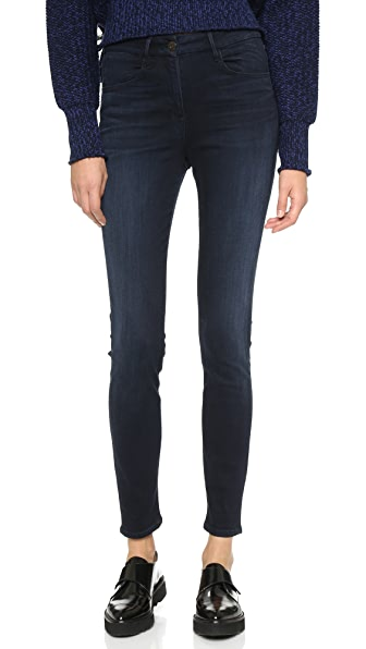 3x1 W3 High Rise Channel Seam Skinny Jeans - Charlie