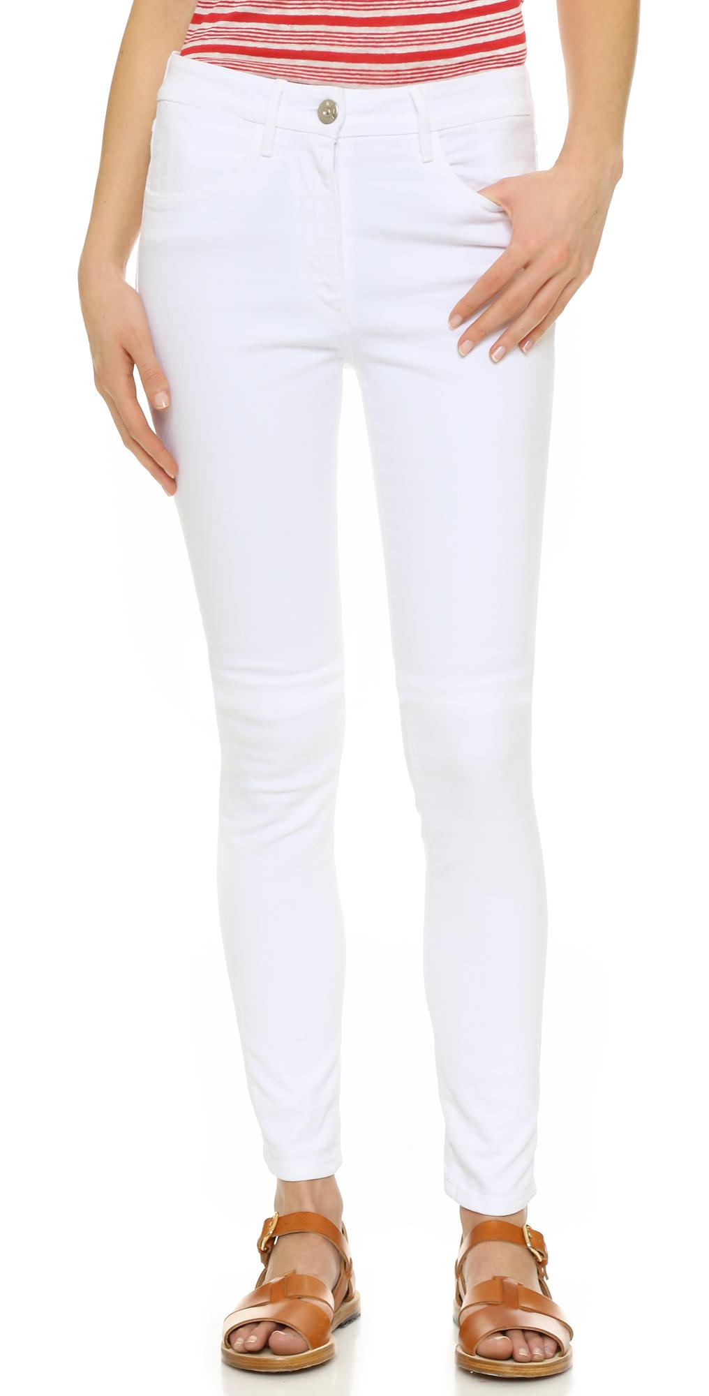 W3 High Rise Channel Seam Skinny Jeans 3x1